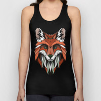 Fox // Colored Unisex Tank Top by Andreas Preis