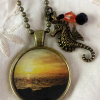 Yellow Sky Photographic Pendant