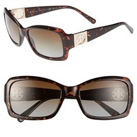 Women's Tory Burch 56mm Polarized Sunglasses
