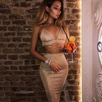 Hot Sale Club Dress Women's Fashion Bottom & Top [56917000207]