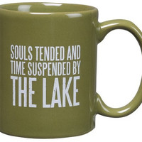 Souls Tended and Time Suspended by the Lake - Lake Cabin Coffee Tea Mug