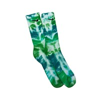 Nike Dri-Fit Tie Dye Light & Dark Green Socks