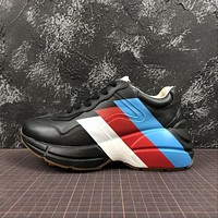 Gucci Rhyton Web Print Leather Sneaker Black