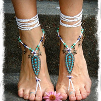 Indie BAREFOOT Sandals STARFISH Brass Toe Anklets by GPyoga
