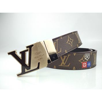 Louis Vuitton LV men's fashion classic formal business belt
