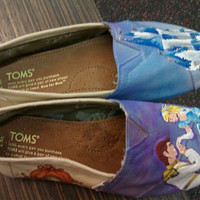 Cinderella Story hand painted TOMS by PaintedLaceStudios on Etsy