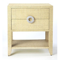 Butler Amelle Cream Raffia End Table