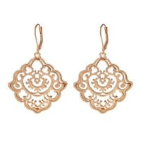 Design Bohemian Jewelry Gold/Silver Color Alloy Pierced Flower Drop Earring