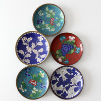 antique Chinese enamel plate collection