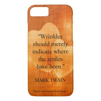 Mark Twain Birthday Quote With Hearts iPhone 7 Case