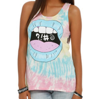 Foul Mouth Tie Dye Girls Tank Top
