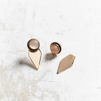 Genuine Moonstone Front/Back Earring - Urban Outfitters
