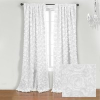 Wake Up Frankie - The Bouquet Panel - White - The Bouquet Panel - White : Boutique Bedding, Pink Bedding, Dorm Bedding, Teen Comforters