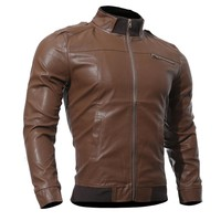 Men's PU Jackets Coats Motorcycle Leather Jacket Men Autumn Spring Leather Clothing Male Casual Coats Clothes Plus Size XXXL
