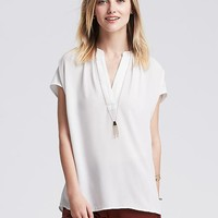 Banana Republic Womens V Neck Popover Blouse