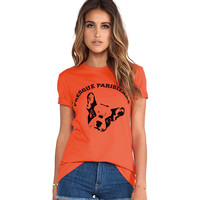 Orange Chihuahua Printed Short Sleeves Shirt