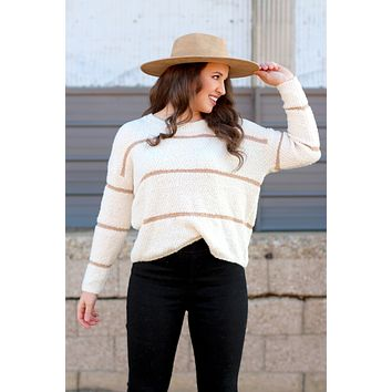 Winter Dreams Metallic Stripe Sweater {Cream}
