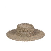 Lack of Color - Sunnydip - Frayed Wide Brim Woven Seagrass Hat
