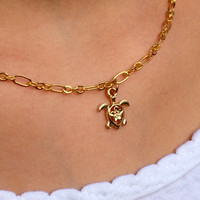 Gold Turtle Anklet, Gold Turtle Bracelet, Gold Turtle Necklace