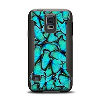 The Butterfly BackGround Flat Samsung Galaxy S5 Otterbox Commuter Case Skin Set