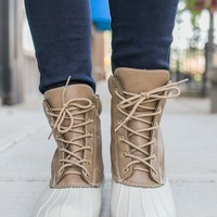 Autumn Showers Duck Boots - Taupe