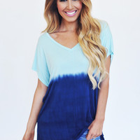 Ombre Tunic- Light Blue/Navy