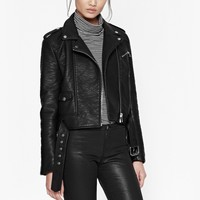 GENERATION FAUX LEATHER BIKER JACKET