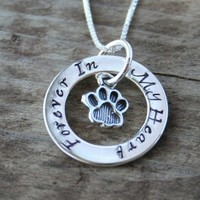 Eternity Circle Necklace for Pet Owners - Cat or Dog - Memorial or Pet Lover
