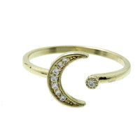 To The Moon Ring in Gold