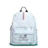 Clear Backpacks popular New Famous Brand Mochila Transparente Clear Backpack Pocket Small Bag Women School Bag PU Leather Knapsacks Lady Clear Bagpack AT_62_4
