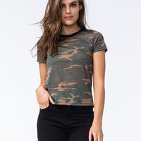 FULL TILT Womens Camo Tee | Knit Tops & Tees