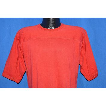 80s The Knits Blank Red Jersey t-shirt Large