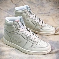 Nike Air Jordan 1 OG All White High Sport Basketball Shoes - Best Online Sale