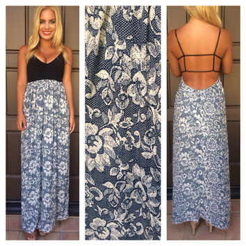 Navy Blue Tulum Maxi Dress