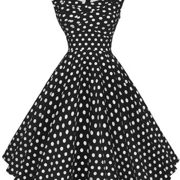 Retro Polka Dot Sweetheart Dress