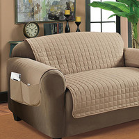 Taupe Quilted Furniture Protector