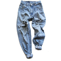 Archival Levi's Destroyed Boyfriend Pants FRUITION LAS VEGAS