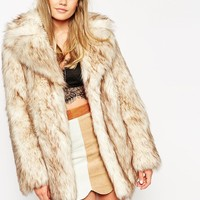 ASOS Vintage Faux Fur Coat