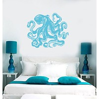 Vinyl Decal Wall Sticker Octopus Sea Ocean Beach House Decor Unique Gift (m485)