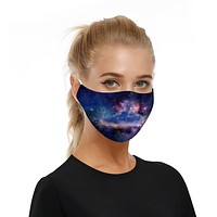 Removable Filter Universe Fabric Face Mask