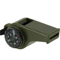 Mini Portable 3 in 1 Outdoor Camping Whistle with Compass and Thermometer (Green)