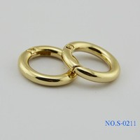 Free shipping Bag with Parts & Accessories (10 PCS/lot) gold fittings of zinc alloy handbags spring coil diameter 19.6 mm