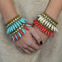 Feathered Indian Antique Stone Bracelets