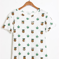 Distressed Pineapple Tee Shirt