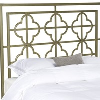 Lucina French Silver Metal Headboard Queen