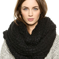 Black Knitted Snood