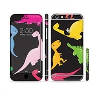The Vector Neon Dinosaur Sectioned Skin Series for the Apple iPhone 6