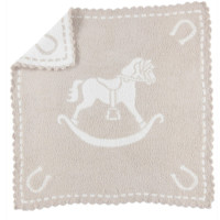 Scalloped Rocking Horse Receiving Blanket by Barefoot Dreams