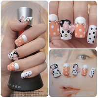 DIY hello kitty fake kawaii nails. cute and innocent gyaru.