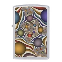 Flying Up, modern and abstract Fractal Art Pattern Zippo Lighter